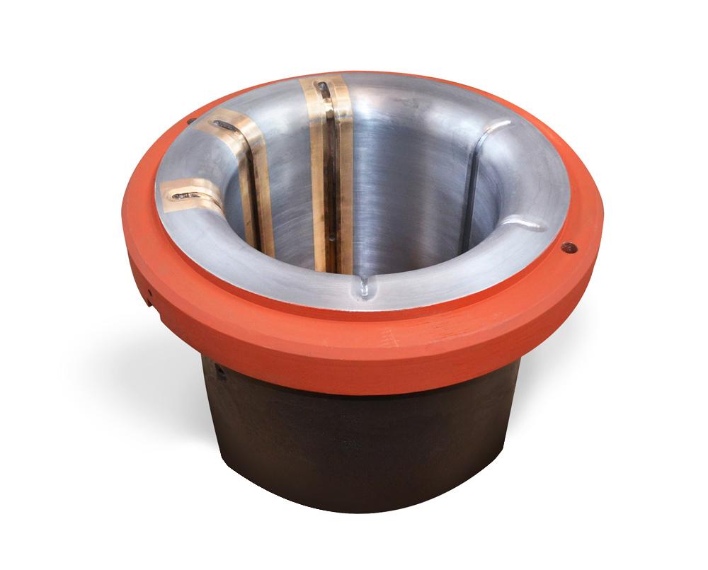 Empoise régulé avec insert bronze (pour laminoir)